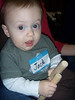 This is Jack (obviously with the name tag!) at his first music class with mommy.  He LOVED it!