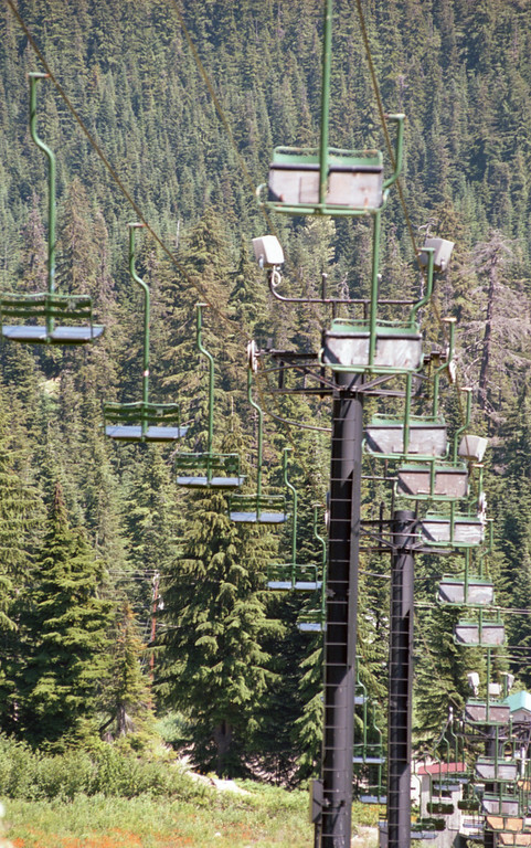 A lift at the Summit Central ski area at Snoqualmie Pass.