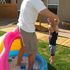 then daddy tried the dunking method...