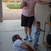A little backyard jam session with grams and gramps.