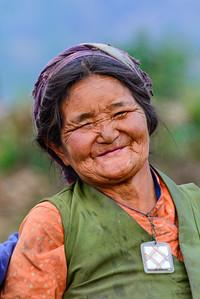 Nepali woman, Langtang Valley, Nepal