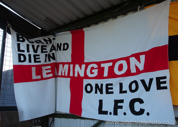 A flag hung at one end of the ground - Leamington v AFC Totton, Southern League, The New Windmill Ground, Leamington - 1/12/12 - ©Paul Paxford/Pitchside Photo. No unauthorised use. Contact Pitchsidephotography@gmail.com