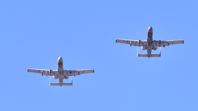December 29, 2017; Tucson, AZ, USA;  A-10 figher jets fly before the NOVA Home Loans Arizona Bowl game between the New Mexico State Aggies and Utah State Aggies at Arizona Stadium in Tucson, Ariz.  Photo by Sam Wasson/bleedCrimson.net