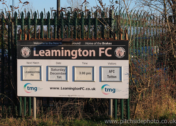 A sign outside the New Windmill Ground - Leamington v AFC Totton, Southern League, The New Windmill Ground, Leamington - 1/12/12 - ©Paul Paxford/Pitchside Photo. No unauthorised use. Contact Pitchsidephotography@gmail.com