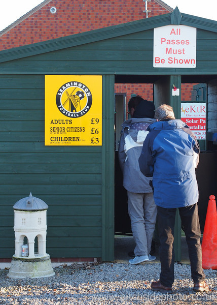 Spectators enter the New Windmill Ground - Leamington v AFC Totton, Southern League, The New Windmill Ground, Leamington - 1/12/12 - ©Paul Paxford/Pitchside Photo. No unauthorised use. Contact Pitchsidephotography@gmail.com