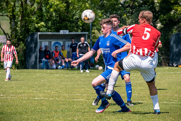 Corfe Castle 2 Chickerell United 1 - Dorset League match at The Fortress, Corfe Castle, on May 19, 2018 (Photo by Paul Paxford/Pitchside Photo)