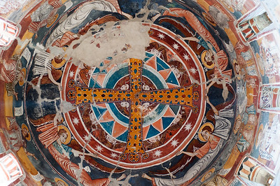 Frescoes inside Nikortsminda Cathedral, Orthodox Church in Racha region of Georgia