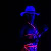Girl Grateful black light shibari shoot