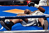 (6.26.2009 -- Tucson)  Kelsey Arnold on the canvass after being knocked out in the 1st round by Deontay Wilder in their Heavyweight bout.<br /> <br /> Images from the Golden Boy Promotions fight card at the Desert Diamond Casino.