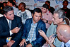 (6.26.2009 -- Tucson)  Oscar de la Hoya interview by members of the media.<br /> <br /> Images from the Golden Boy Promotions fight card at the Desert Diamond Casino.