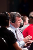 (6.26.2009 -- Tucson)  Teddy Atlas of ESPN  ringside.<br /> <br /> Images from the Golden Boy Promotions fight card at the Desert Diamond Casino.