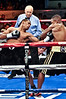 (6.26.2009 -- Tucson)  Daniel Jacobs scores early in his Middleweight bout against George Walton.  Jacobs went on to score a 8th round TKO to maintain his undefeated record.<br /> <br /> Images from the Golden Boy Promotions fight card at the Desert Diamond Casino.
