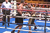 (6.26.2009 -- Tucson)  Daniel Jacobs jabs at George Walton in their Middleweight bout.  Jacobs went to score an 8th round TKO.<br /> <br /> Images from the Golden Boy Promotions fight card at the Desert Diamond Casino.