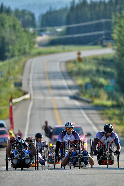 July 18, 2013: Sadler's Alaska Challenge Stage Three - Milepost 264 to Milepost 318. The races start stage three on the Parks Highway. The stage began at milepost 264 north of Nenana, AK and finished at milepost 318 north of Healy, AK.