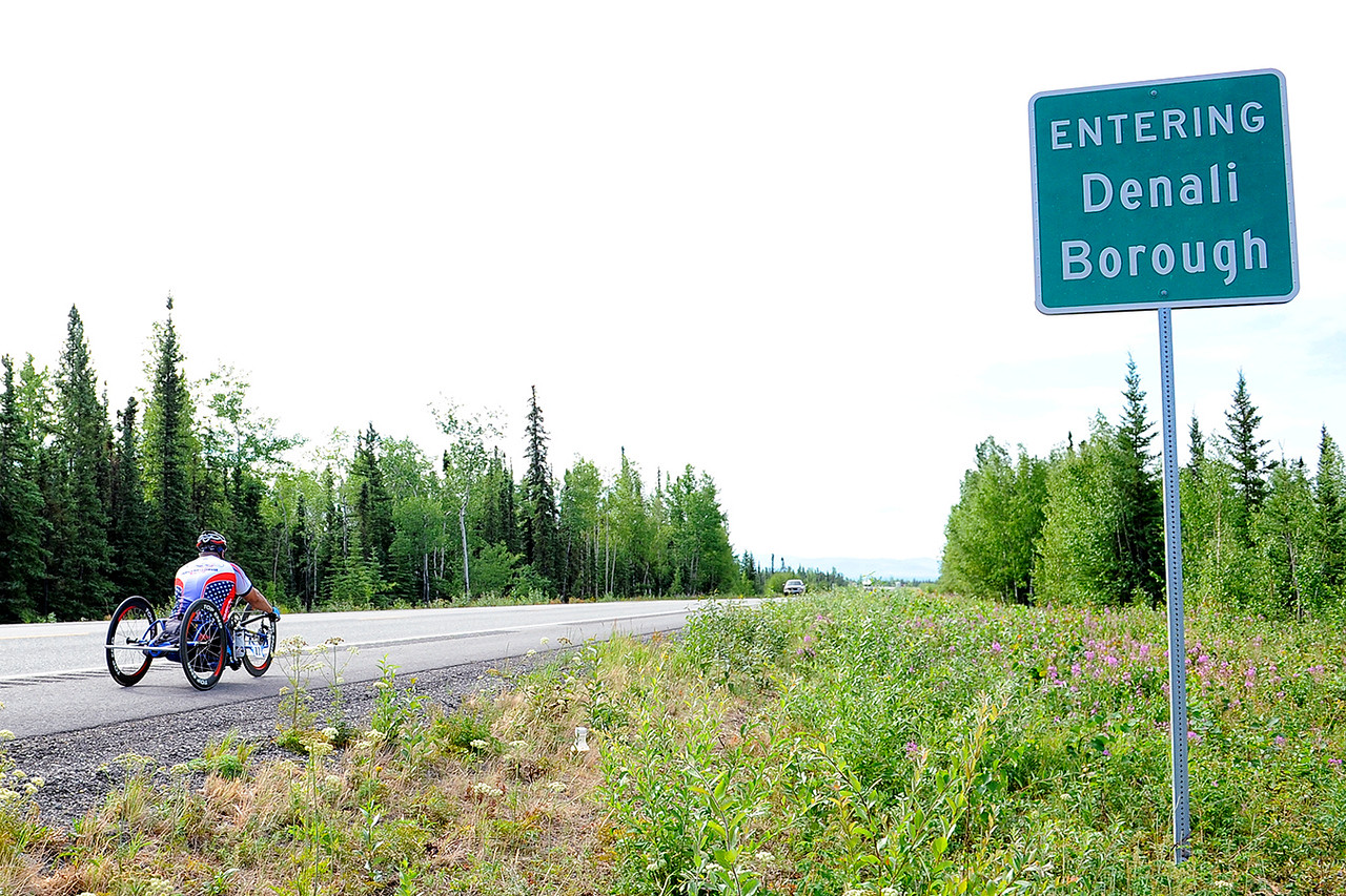 July 18, 2013: Sadler's Alaska Challenge Stage Three - Milepost 264 to Milepost 318. Joseph Beimfohr (Wesley Chapel, Fla.) races on the Parks Highway during stage three. The stage began at milepost 264 north of Nenana, AK and finished at milepost 318 north of Healy, AK.
