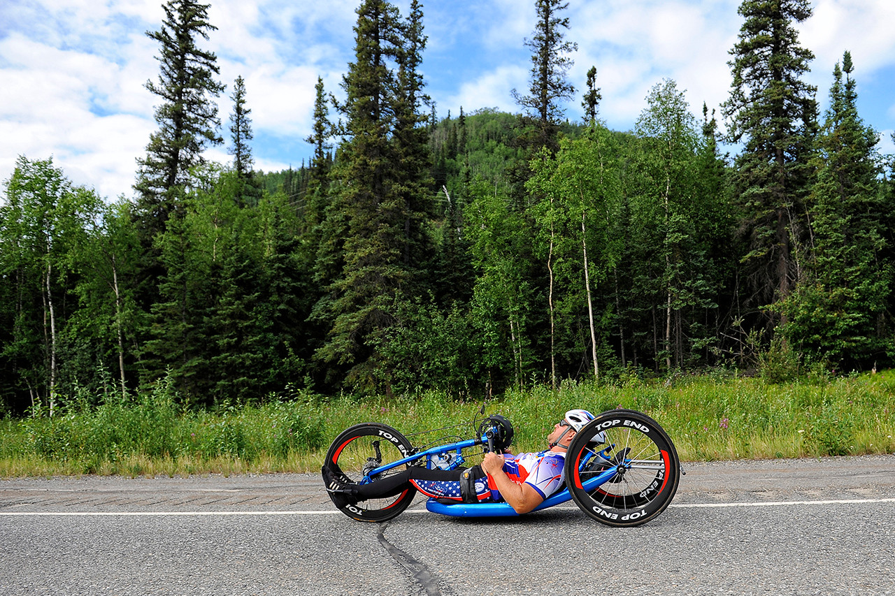 July 18, 2013: Sadler's Alaska Challenge Stage Three - Milepost 264 to Milepost 318. Michael Bishop (Beech Island, S.C.) races on the Parks Highway during stage three. The stage began at milepost 264 north of Nenana, AK and finished at milepost 318 north of Healy, AK.