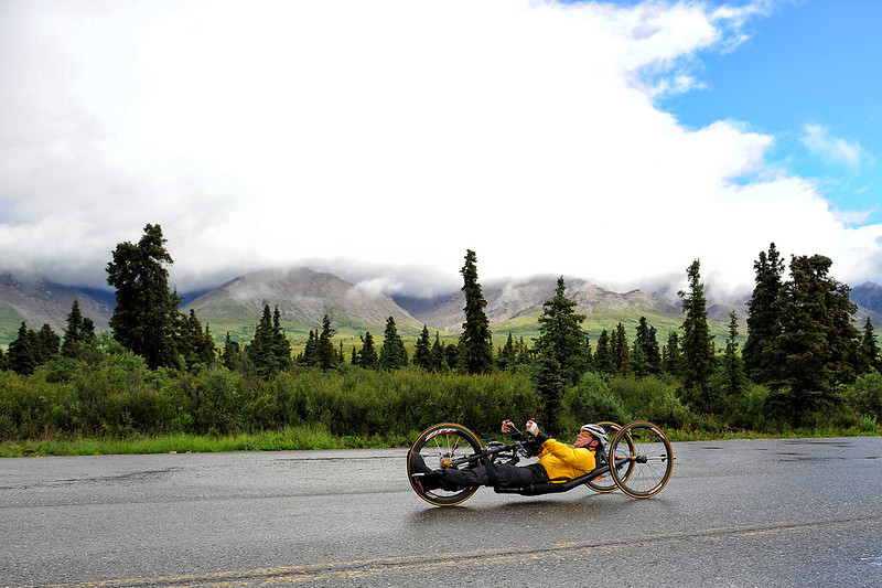 July 19, 2013: Sadler's Alaska Challenge Stage Four - Time Trial in Denali Park. Peer Bartels (Leer, Germany) races along the Denali Park road inside Denali National Park during stage four. Bartels finished the 10.9-mile stage in 34:59.