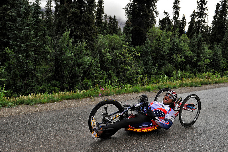 July 19, 2013: Sadler's Alaska Challenge Stage Four - Time Trial in Denali Park. Gerard Ah Fook (Tucson, Ariz.) races along the Denali Park road inside Denali National Park during stage four. Ah Fook finished the 10.9-mile stage in 43:30.