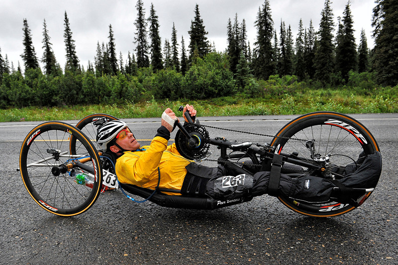 July 19, 2013: Sadler's Alaska Challenge Stage Five from Milepost 211 to Milepost 183. Peer Bartels (Leer, Germany) races along the Parks highway during stage five. Bartels finished the 28.2-mile stage in 1:24:15.