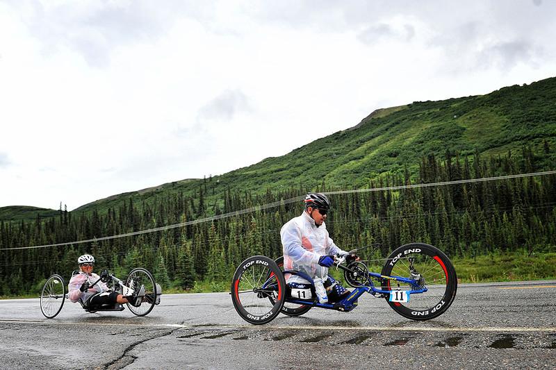 July 19, 2013: Sadler's Alaska Challenge Stage Five from Milepost 211 to Milepost 183. Joseph Beimfohr (Wesley Chapel, Fla.) and Karin Korb (N. Lauderdale, Fla.) race along the Parks highway during stage five.