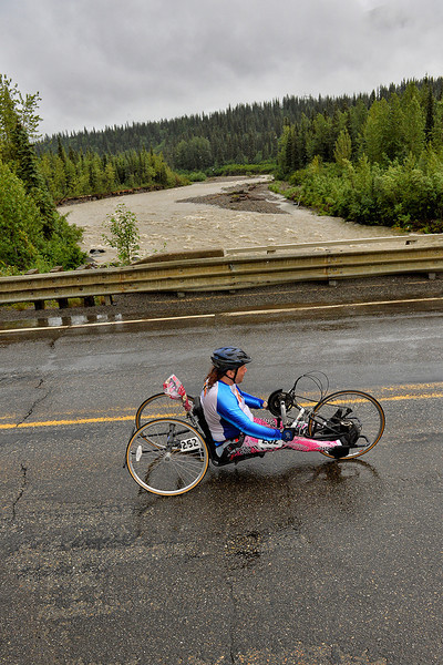 July 19, 2013: Sadler's Alaska Challenge Stage Five from Milepost 211 to Milepost 183. Larry Coutermarsh (North Pole, AK) races along the Parks highway during stage five. Coutermarsh finished the 28.2-mile stage in 2:24:18.