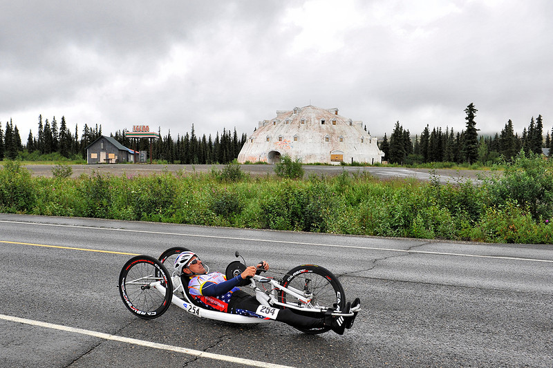 July 19, 2013: Sadler's Alaska Challenge Stage Five from Milepost 211 to Milepost 183. Carlos Moleda (Bluffton, S.C.) races along the Parks highway during stage five. Moleda finished the 28.2-mile stage in 1:24:15.