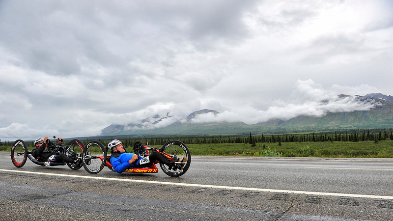 July 19, 2013: Sadler's Alaska Challenge Stage Five from Milepost 211 to Milepost 183. Michael Postell (Snellville, Ga.) and Jacob Freeland (Asheville, N.C.) race along the Parks highway during stage five.