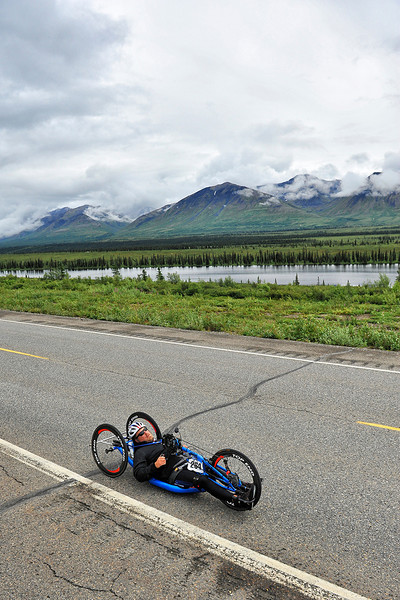 July 19, 2013: Sadler's Alaska Challenge Stage Five from Milepost 211 to Milepost 183. Michael Bishop (Beech Island, S.C.) races along the Parks highway during stage five. Bishop finished the 28.2-mile stage in 1:55:56.
