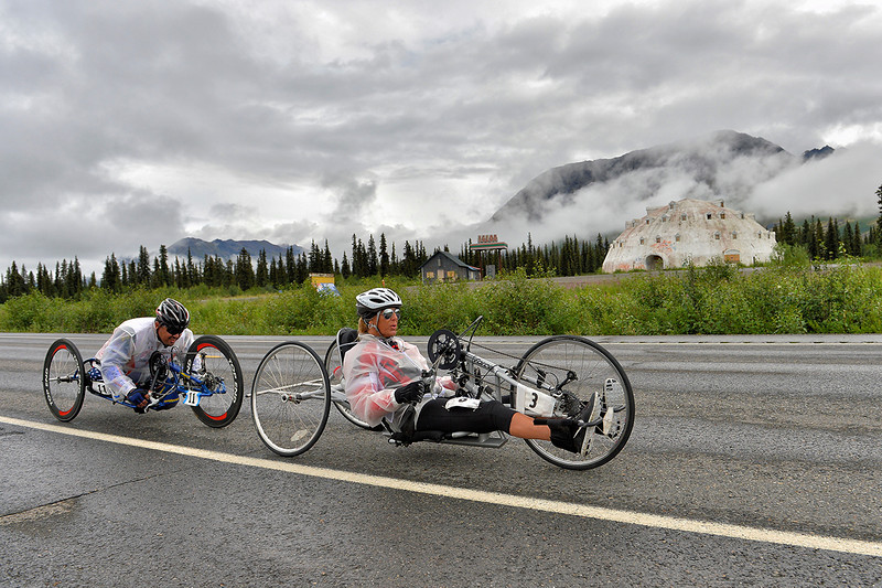 July 19, 2013: Sadler's Alaska Challenge Stage Five from Milepost 211 to Milepost 183. Karin Korb (N. Lauderdale, Fla.) and Joseph Beimfohr (Wesley Chapel, Fla.) race along the Parks highway during stage five.