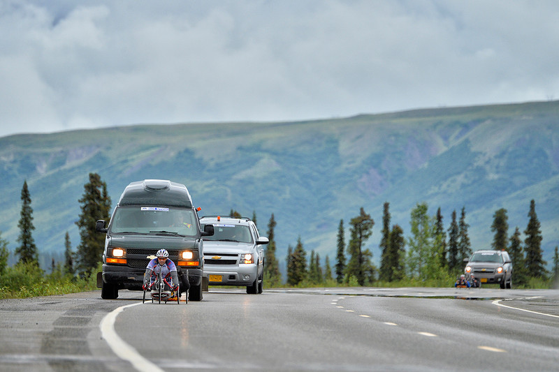 July 19, 2013: Sadler's Alaska Challenge Stage Five from Milepost 211 to Milepost 183. Robert Puckett III (St. Petersburg, Fla.) races along the Parks highway during stage five. Puckett finished the 28.2-mile stage in 1:31:43.