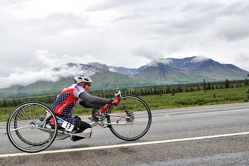 July 19, 2013: Sadler's Alaska Challenge Stage Five from Milepost 211 to Milepost 183. Robert Puckett III (St. Petersburg, Fla.) races along the Parks highway during stage five. Puckett finished the 28.2-mile stage in 1:31:43