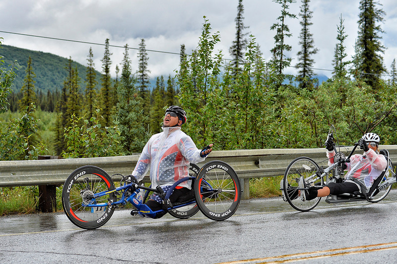July 19, 2013: Sadler's Alaska Challenge Stage Five from Milepost 211 to Milepost 183. Joseph Beimfohr (Wesley Chapel, Fla.) and Karin Korb (N. Lauderdale, Fla.) race along the Parks highway during stage five.