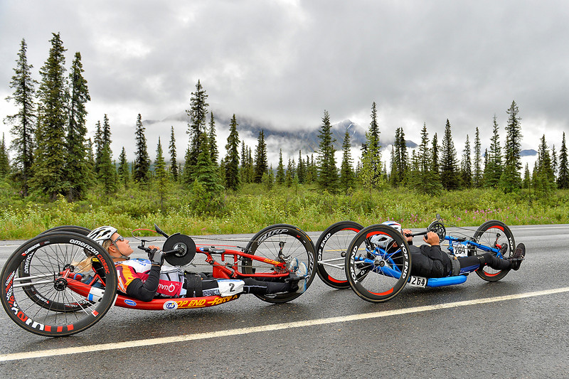 July 19, 2013: Sadler's Alaska Challenge Stage Five from Milepost 211 to Milepost 183. Michael Bishop (Beech Island, S.C.) and Carrie Finale (Navarre, Fla.) race along the Parks highway during stage five.