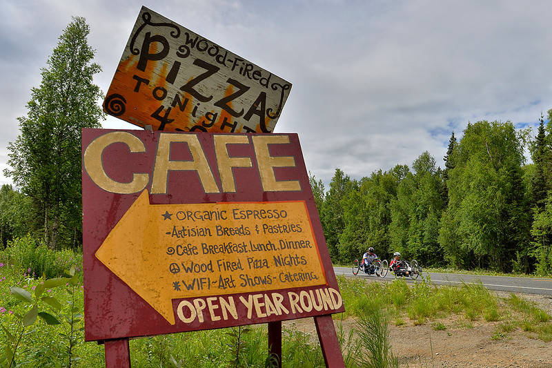 July 20, 2013: Sadler's Alaska Challenge Stage Six from Denali View South to Talkeetna Alaskan Lodge. Joseph Beimfohr (Wesley Chapel, Fla.) and Karin Korb (N. Lauderdale, Fla.) race along Talkeetna Spur Road during stage six.