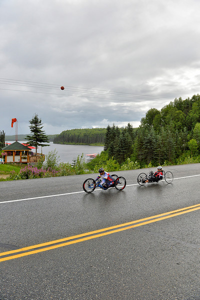 July 20, 2013: Sadler's Alaska Challenge Stage Six from Denali View South to Talkeetna Alaskan Lodge. Joseph Beimfohr (Wesley Chapel, Fla.) and Karin Korb (N. Lauderdale, Fla.) race along Talkeetna Spur Road during stage six.