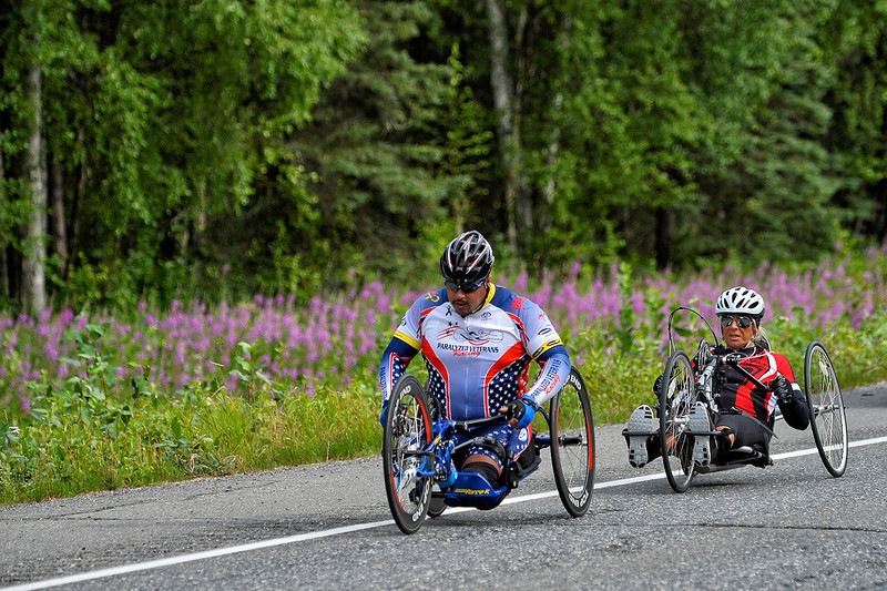 July 20, 2013: Sadler's Alaska Challenge Stage Six from Denali View South to Talkeetna Alaskan Lodge. Joseph Beimfohr (Wesley Chapel, Fla.) and Karin Korb (N. Lauderdale, Fla.) race along the Parks Highway during stage six.