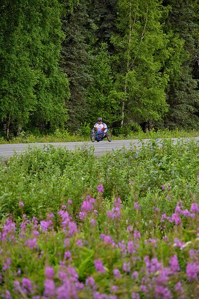 July 20, 2013: Sadler's Alaska Challenge Stage Six from Denali View South to Talkeetna Alaskan Lodge. Joseph Beimfohr (Wesley Chapel, Fla.) races along the Parks Highway during stage six. Beimfohr finished the 49.4-mile stage in 3:21:51.