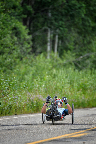 July 17, 2013: Sadler's Alaska Challenge Stage Two - Ester, Alaska to Nenana, Alaska. Rafal Wilk (Rzezow, Poland) races on the Old Nenana Highway during stage two from Ester, AK to Nenana, AK. Wilk finished the stage in 2:24:25.