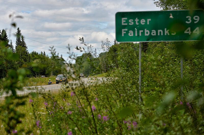 July 17, 2013: Sadler's Alaska Challenge Stage Two - Ester, Alaska to Nenana, Alaska. Karin Korb (N. Lauderdale, Fla.) races along the Parks Highway during stage two from Ester, AK to Nenana, AK. Korb finished the 46.3 mile stage in 4:50:37.