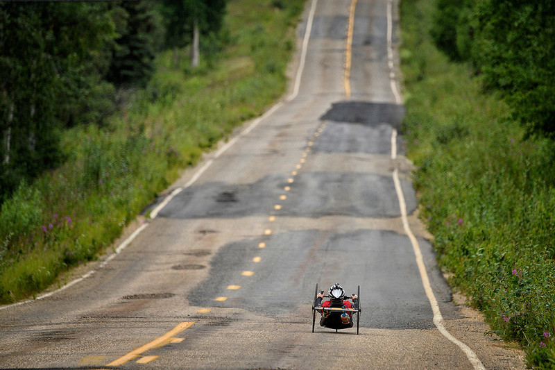 July 17, 2013: Sadler's Alaska Challenge Stage Two - Ester, Alaska to Nenana, Alaska. Peer Bartels (Leer, Germany) races on the Old Nenana Highway during stage two from Ester, AK to Nenana, AK. Bartels finished the 46.3 mile stage in 2:52:46.