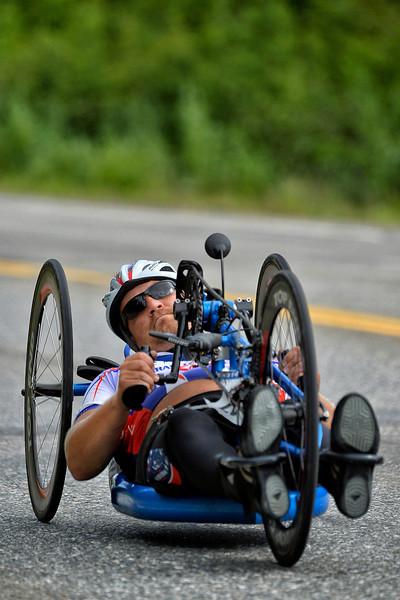 July 17, 2013: Sadler's Alaska Challenge Stage Two - Ester, Alaska to Nenana, Alaska. Michael Bishop (Beech Island, S.C.) races on the Parks Highway during stage two from Ester, AK to Nenana, AK. Bishop finished the 46.3 mile stage in 4:37:05.