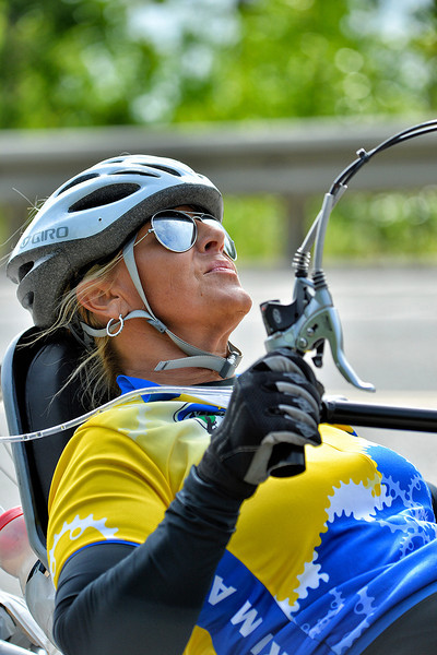 July 17, 2013: Sadler's Alaska Challenge Stage Two - Ester, Alaska to Nenana, Alaska. Karin Korb (N. Lauderdale, Fla.) races on the Parks Highway during stage two from Ester, AK to Nenana, AK. Korb finished the 46.3 mile stage in 4:50:37.