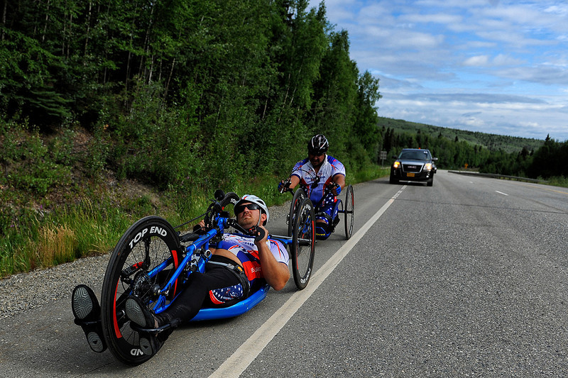 July 17, 2013: Sadler's Alaska Challenge Stage Two - Ester, Alaska to Nenana, Alaska. Michael Bishop (Beech Island, S.C.) and Joseph Beimfohr (Wesley Chapel, Fla.) race on the Parks Highway during stage two from Ester, AK to Nenana, AK.