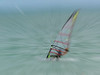 Wind surfing in nice weather.