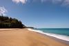 Broad sandy beach of Lumaha'i on Kauai