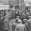 The Forshaws stallion parade behind a local hostelry in Friargate Preston, Lancashire,  in 1939.<br /> Although originally from a Lancashire family, Tom and James Forshaw hailed from Newark, Nottinghamshire, where they ran what was at the time the largest and one of the most renowned stallion studs in England with about 70 animals.  Rather than join the district parades around Lancashire they preferred to stage thier own single parade in Preston whic attracted breeders from around the country. They would normally bring about four stallions which  were then 'travelled' by local handlers.