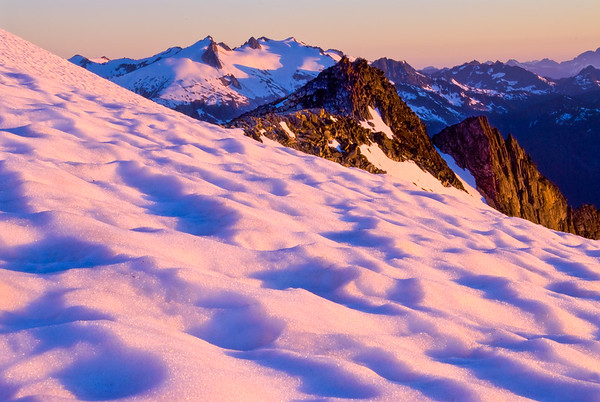 Evening light in the North Cascades, Washington