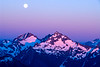 Full moon in the North Cascades, Washington