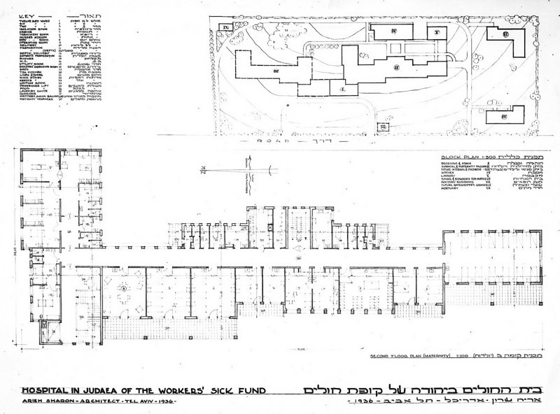 Site Plan and Second Floor Plan, Maternity