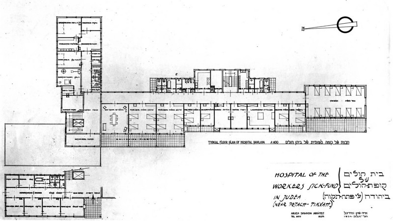 Typical Floor Plan of Hospital Pavilion